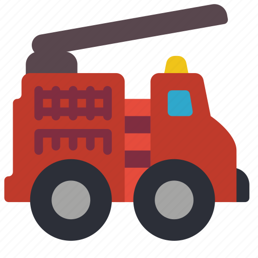 childrens, engine, fire, kids, toy, toys, truck icon