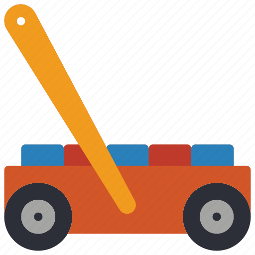 cart, childrens, kids, pushalong, toy, toys, walker icon