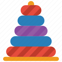 childrens, kids, puzzle, stacker, toy, toys icon