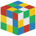 childrens, cube, kids, puzzle, rubix, toy, toys icon