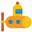 bath, childrens, kids, submarine, toy, toys icon