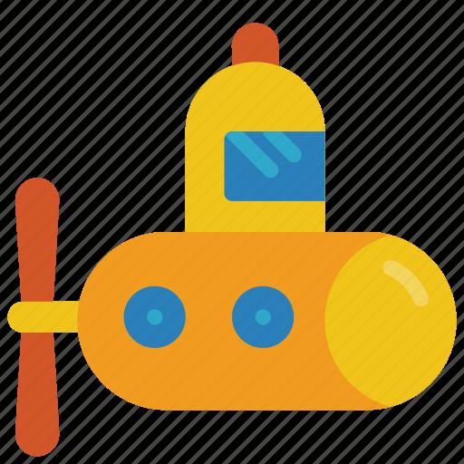 bath, childrens, kids, submarine, toy, toys icon