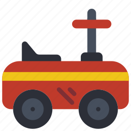 car, childrens, kids, on, ride, toy, toys icon