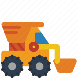 childrens, digger, kids, toy, toys, truck icon