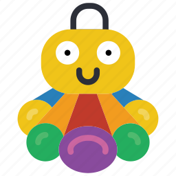 childrens, kids, octopus, teddy, toy, toys icon