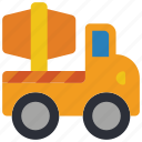 cement, childrens, kids, mixer, toy, toys, truck icon