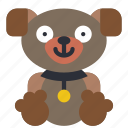childrens, kids, puppy, teddy, toy, toys icon