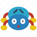 childrens, kids, spider, teddy, toy, toys icon