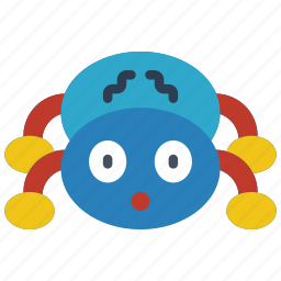 childrens, kids, spider, teddy, toy, toys icon