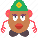 childrens, head, kids, mrs, potato, toy, toys icon