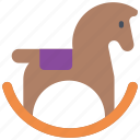 childrens, horse, kids, pony, rocking, toy, toys icon