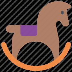 childrens, horse, kids, pony, rocking, toy, toys icon