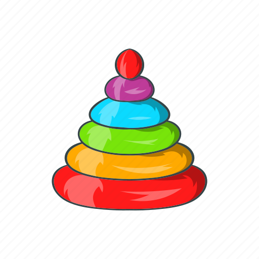 cartoon, childhood, game, leisure, pyramid, sign, toy icon
