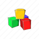 baby, block, cartoon, cubes, play, sign, toy icon