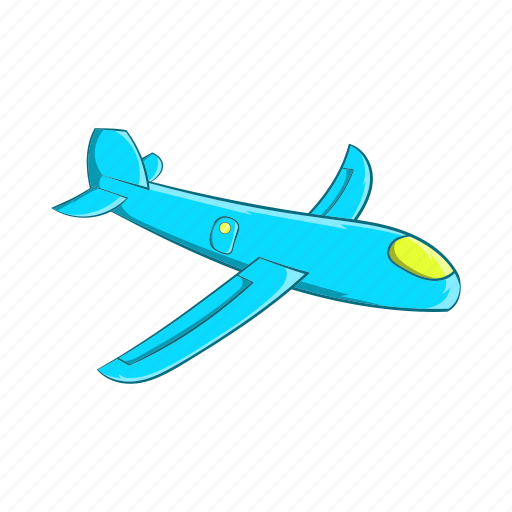 Airplane Cartoon Childrens Fly Plane Sign Toy Icon