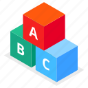 blocks, toy, abc, development