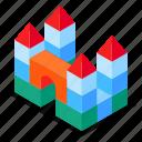 castle, toy, blocks, constructor
