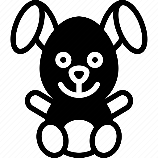 bunny, childrens, kids, stuffed, teddy, toy, toys icon