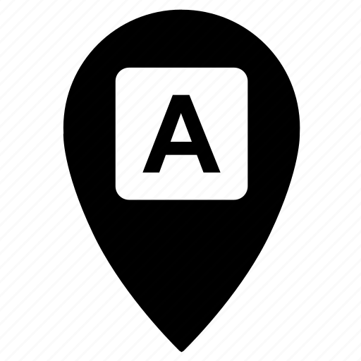 a, point, side icon