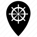 boat, pointer, steering, wheel icon