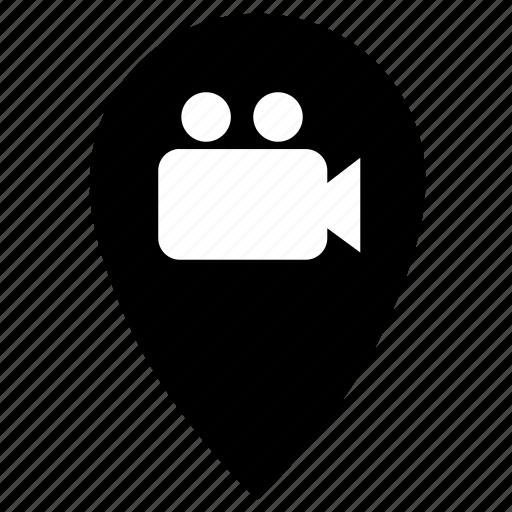 camera, film, point icon