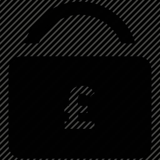 account, business, funds, lock, pound, pound lock, transaction icon