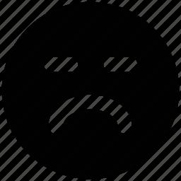 emoticon, expression, sad face, sad smiley, sadness, smiley icon