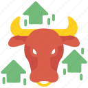 bull, business, forex, trading, trend icon