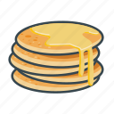 fast, food, honey, menu, pancakes, restaurant icon