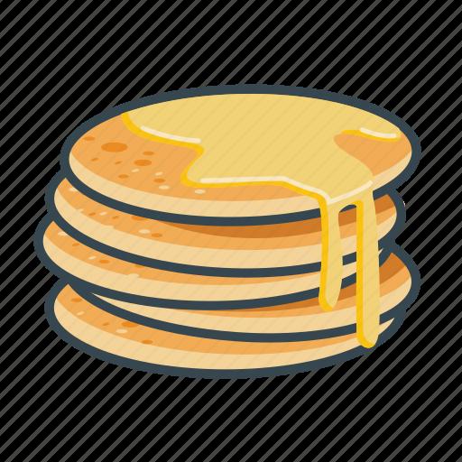 fast, food, honey, menu, pancakes, restaurant icon