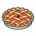 berry, cherry pie, food, pie, restaurant icon