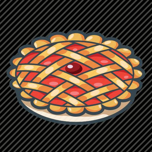 berry, cherry pie, food, pie, restaurant icon