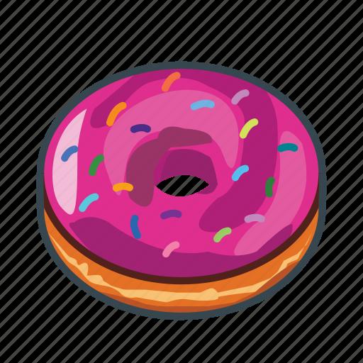 donut, fast, food, menu, restaurant, sweet icon