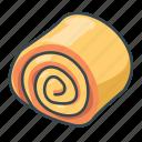 bread, bun, cake, cinnamon roll, food, roll bun icon