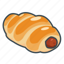 bakery, bun, fast, food, hot dog, sausage icon
