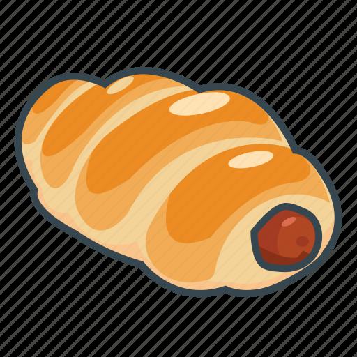 bakery, bun, fast, food, hot dog, sausage icon