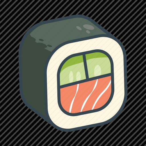 asian, fish, food, rice, sea food, sushi icon