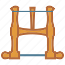 bow saw, saw, turning saw, woodworking icon
