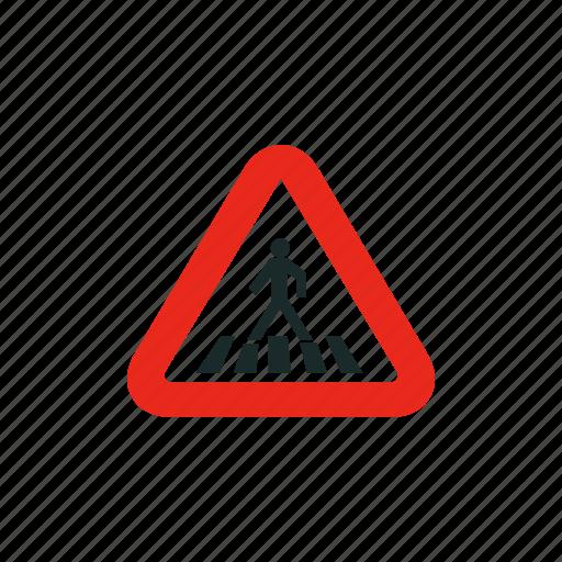 crosswalk, pedestrian, road sign, sign, traffic sign icon