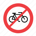 allowed, bike, forbidden, no, not, prohibited, sign