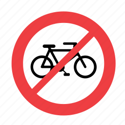 allowed, bike, forbidden, no, not, prohibited, sign icon