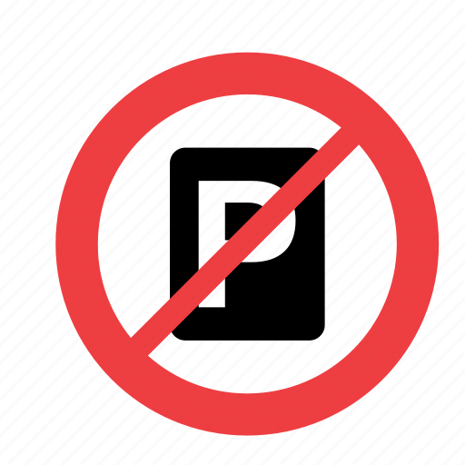 allowed, forbidden, no, not, parking, prohibited, sign icon