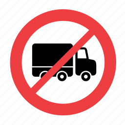 allowed, forbidden, no, not, prohibited, sign, truck icon