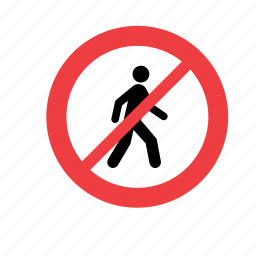 allowed, forbidden, no, not, people, prohibited, sign icon