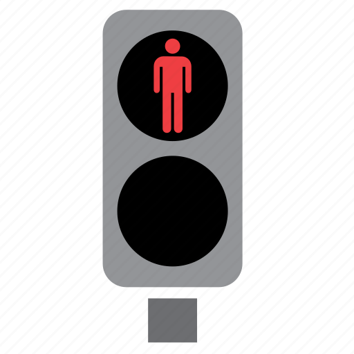 Circulation, light, pedestrian, red, traffic icon | Icon ...