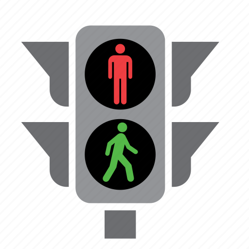 Circulation, green, light, pedestrian, red, traffic icon ...