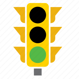 car, circulation, green, light, pedestrian, traffic icon