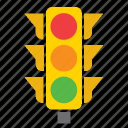 car, circulation, gree, light, pedestrian, red, traffic icon