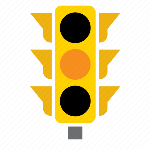 car, circulation, light, orange, pedestrian, traffic icon