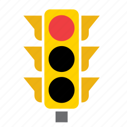 car, circulation, light, pedestrian, red, traffic icon